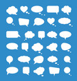 white paper speech bubbles on blue background vector image vector image