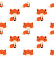 winter pattern with fox vector image vector image