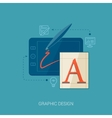 artistic graphic design and concept vector image