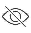 do not spy line icon web and mobile not visible vector image