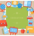 education greeting card vector image