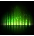 Green aurora light Abstract backgrounds vector image