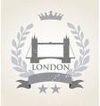 Grunge London icon laurel weath vector image
