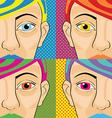 pop art women vector image