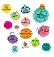 Set of hand-drawn icons for time managment vector image