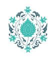 03 floral pattern unframed light blue vector image