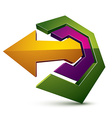 3d abstract symbol with an arrow Business vector image vector image