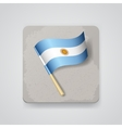 Argentina flag icon vector image