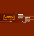 arrow of rama in happy dussehra festival of india vector image vector image