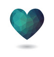 blue broken heart isolated icon vector image vector image