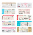 boarding pass ticket wedding invitation templates vector image