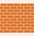 brick wall of red bricks for your vector image vector image