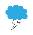 cartoon lightning bolt and cloud weather vector image