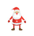 cartoon santa in red hat flat christmas vector image vector image