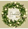 Christmas fir wreath vector image vector image