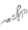 clef music music notes vector image vector image