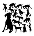collection dalmatian dog silhouettes vector image vector image