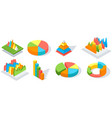 collection of diagrams charts digital marketing vector image