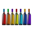 Color Glass Wine Bottles vector image vector image