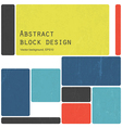 colorful blocks design vector image vector image