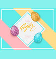 colorful easter eggs composition easter sale vector image vector image