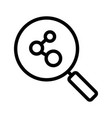 connection search linear icon vector image vector image
