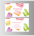 coupon for a bakery shop sweet macaroons vector image vector image