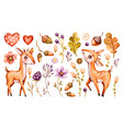 cute badeer forest watercolor nursery vector image