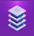 database server isometric element vector image vector image