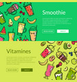 doodle smoothie web banner templates vector image vector image