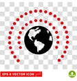 Earth Sphere Shield Eps Icon vector image vector image