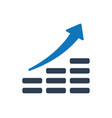 financial growth icon vector image