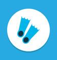 flippers icon colored symbol premium quality vector image
