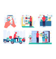food delivery products order service mobile vector image