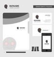 ghost business logo file cover visiting card and vector image vector image
