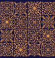 golden tribal symmetric tiled seamless vector image