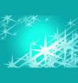 green background stars vector image