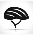 helmet icon on white background vector image vector image