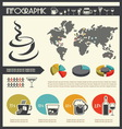 infographic drinks resize vector image vector image