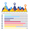 infographics flowchart with percentage information vector image vector image