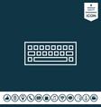 keyboard symbol icon vector image vector image
