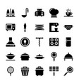 kitchen equipments icons pack vector image
