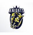 logo emblem sticker badge a knight galloping vector image vector image