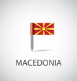 Macedonia flag pin vector image