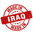 made in iraq red grunge round stamp vector image vector image