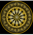 mandala in gold for zen obtaining luxurious vector image vector image