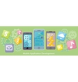 Mobile Application Development Flat Design vector image