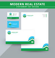 modern real estate stationery set design vector image vector image