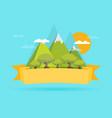 mountain flat design concept vector image