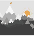 mountains landscape in flat style stylish design vector image